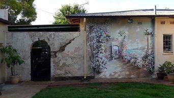 Роспись фасада частного дома