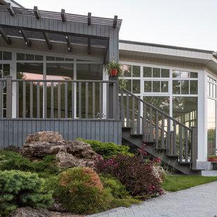 Свежая идея для дизайна: деревянный дом в современном стиле - отличное фото интерьера