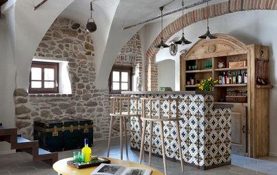 Houzz Италия: Реконструкция фермы на озере Гарда