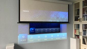 Моторизованный экран EliteScreens для проектора JVC