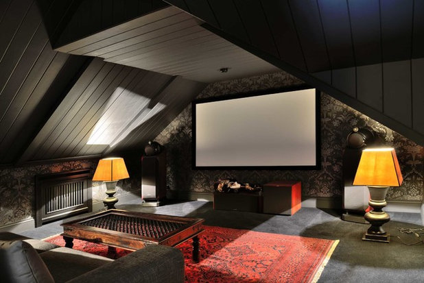American Traditional Home Theater by Gonchar & Lobyntseva