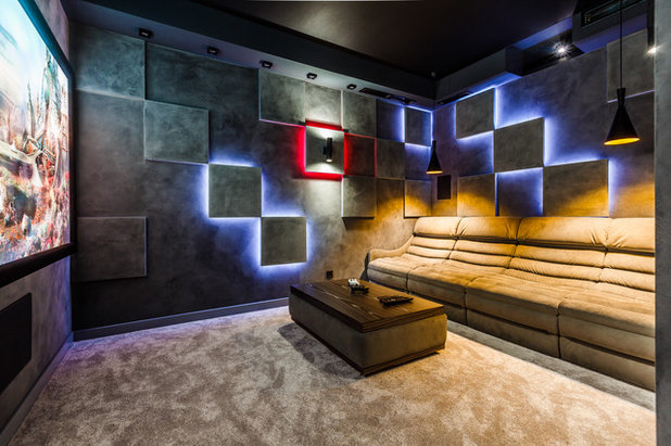 Contemporary Home Theater by Престиж Свет Юг