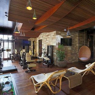 Удачное сочетание для дизайна помещения: универсальный домашний тренажерный зал в современном стиле - самое интересное для вас