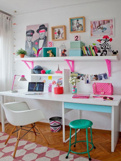 inspiration pour une chambre denfant nordique de taille moyenne avec un bureau un - Chambre Scandinave Ado