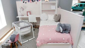 Dormitorio infantil lacado en blanco, en le petit