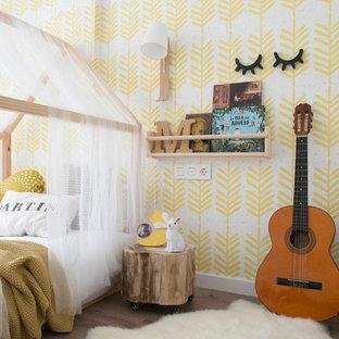 Chambre d\'enfant scandinave avec un mur jaune : Photos et idées déco ...