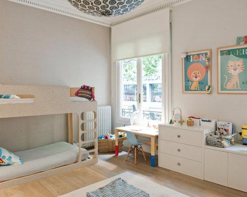 imagen de dormitorio infantil de a aos tradicional renovado de tamao medio