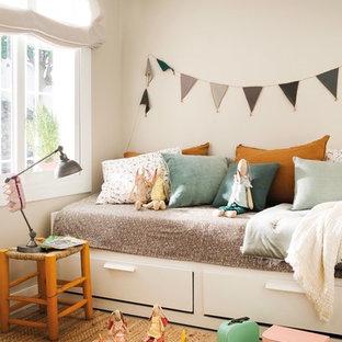 Diseño de dormitorio infantil de 4 a 10 años, marinero, pequeño, con paredes beige