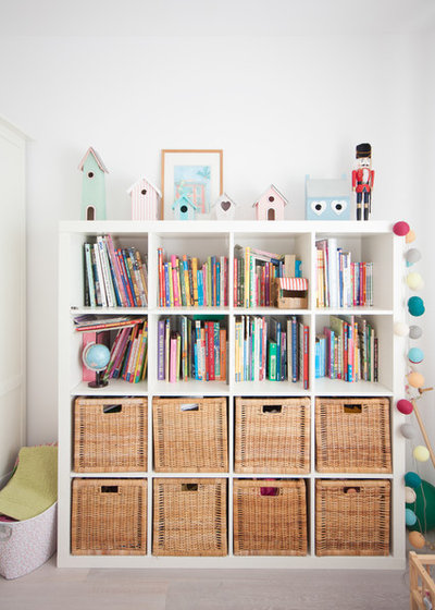 Contemporáneo Dormitorio infantil Piso abierto y luminoso en Madrid