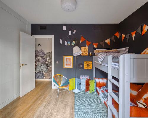 foto de dormitorio infantil de a aos eclctico de tamao medio