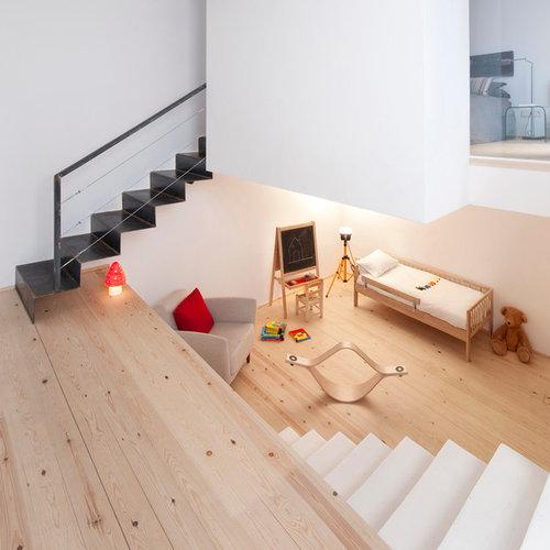 modelo de dormitorio infantil de a aos nrdico de tamao medio