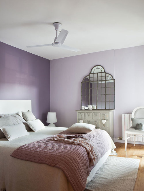 42 shabby chic style bedroom with purple walls design ideas remodel