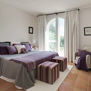 Photo Of A Contemporary Bedroom In Madrid