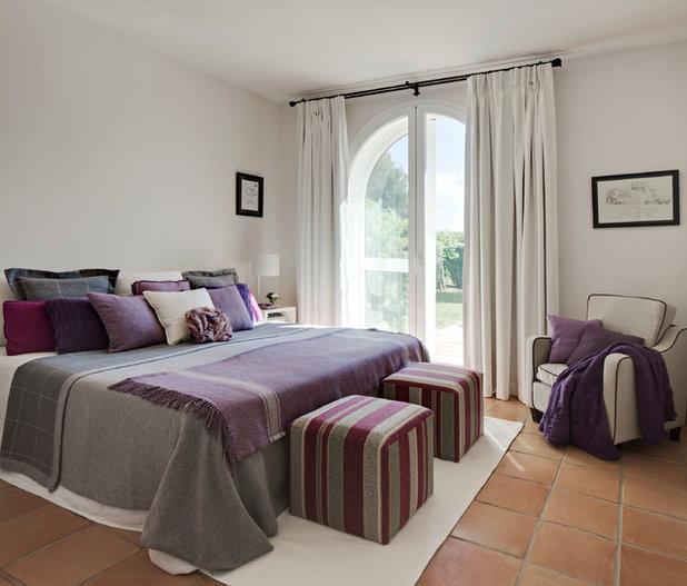 Gris morado y rosa un tr o de color perfecto para el - Houzz dormitorios ...