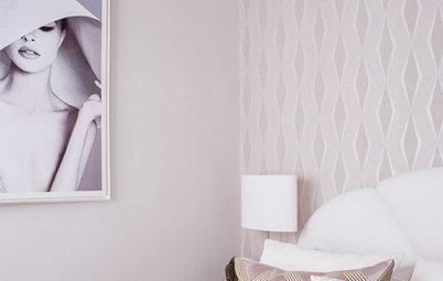 Más vale una imagen...: 11 dormitorios bonitos con papel pintado