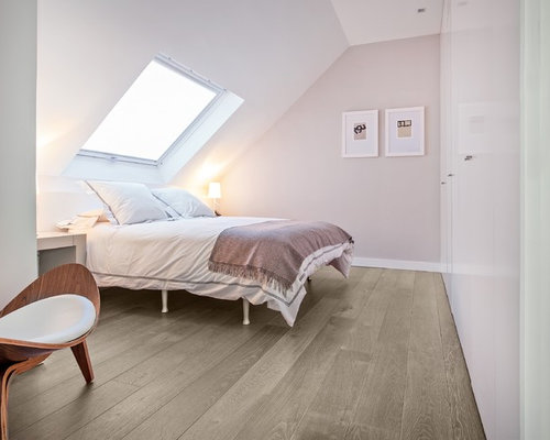 chambre scandinave avec un mur beige photos et id es d co de chambres. Black Bedroom Furniture Sets. Home Design Ideas