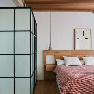 Imagen de dormitorio madera contemporáneo