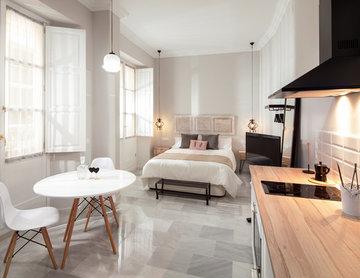 Decoración de interior en apartamento moderno