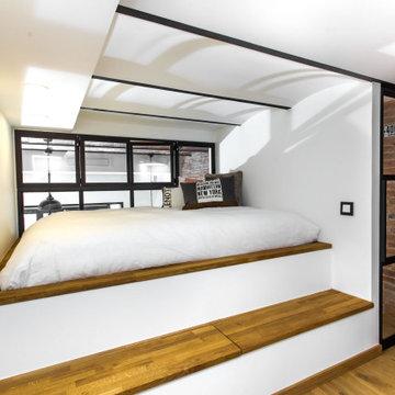 Dormitorio estilo industrial