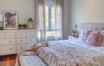 En detalle: El dormitorio romántico y elegante de una pareja