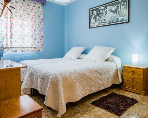 Klassische Schlafzimmer mit Travertin - Ideen, Design & Bilder
