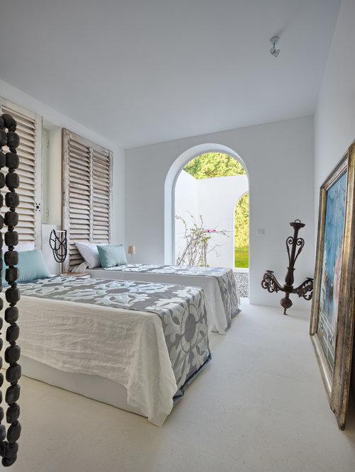 mediterranean grey bedroom design ideas renovations photos