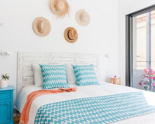 kleine mediterrane schlafzimmer ideen design bilder houzz. Black Bedroom Furniture Sets. Home Design Ideas