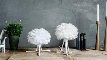 lamparas plumas
