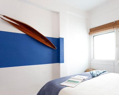 Mediterrane Schlafzimmer mit blauer Wandfarbe Ideen ...