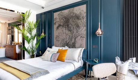 Dormitorios modernos: Atrévete con el Classic Blue en el cabecero