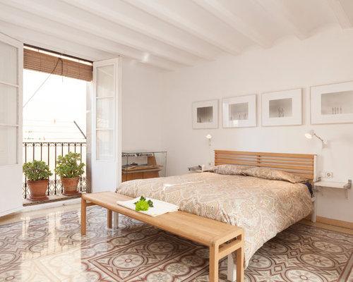 modelo de dormitorio principal nrdico de tamao medio sin chimenea con paredes