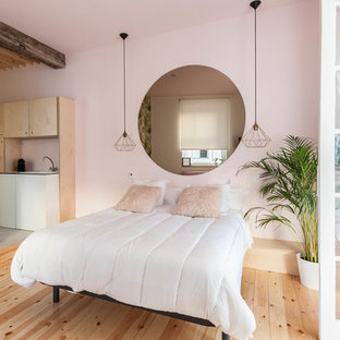 75 Beautiful Tropical Bedroom with Pink Walls Pictures ...