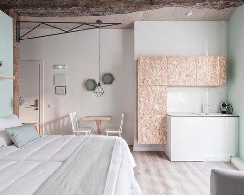 Scandinavian mezzanine bedroom design ideas renovations photos - Bed mezzanie kind ...