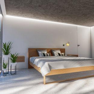 Idéer för ett mycket stort medelhavsstil sovrum