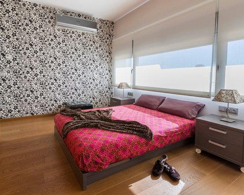 Dormitorio con papel pintado ideas y fotos houzz - Houzz dormitorios ...