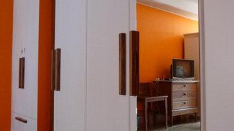 aménagements l'école hôtelière de Besançon : meuble pour buanderie et dressing.
