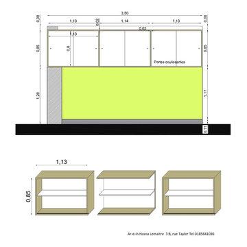 Niches composées et mobilier sur mesure