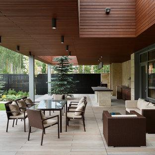 Удачное сочетание для дизайна помещения: дворик в современном стиле с навесом - самое интересное для вас