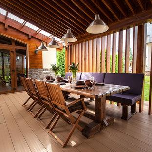Неиссякаемый источник вдохновения для домашнего уюта: дворик в современном стиле