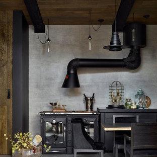 Неиссякаемый источник вдохновения для домашнего уюта: двор в современном стиле с летней кухней