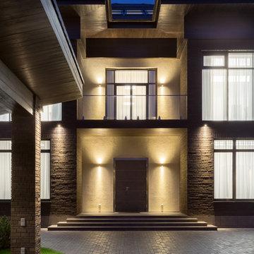 Ночная подсветка фасада