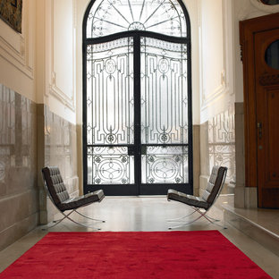 Inspiration for a large classic foyer in Berlin with a double front door.