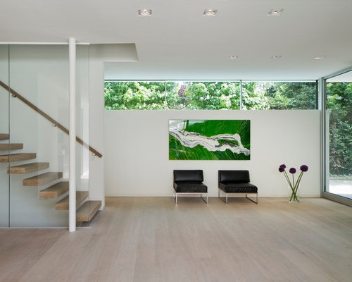 eingang mit glastür: hauseingang & eingangsbereich gestalten - Moderner Eingangsbereich Aussen