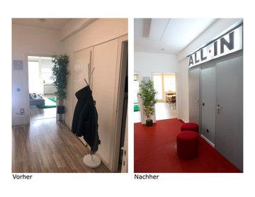 Entree Bereich - Vorher/Nachher