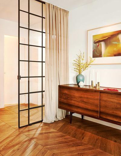 industriefenster look trennw nde aus schwarzstahl und glas im trend. Black Bedroom Furniture Sets. Home Design Ideas