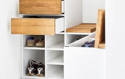 Auf 1,2 Quadratmetern: Eine praktische Garderobe für die ganze Familie