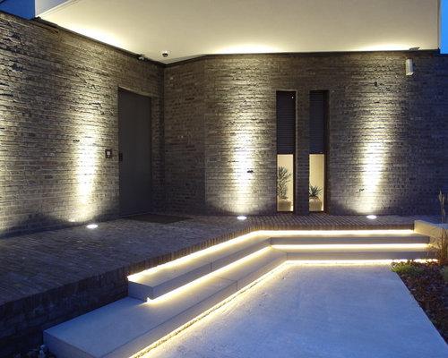 moderner eingang hauseingang eingangsbereich gestalten houzz - Moderner Eingangsbereich Aussen