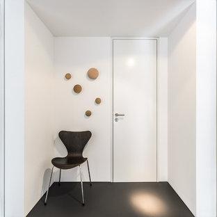 Moderner Eingang mit weißer Wandfarbe in Essen
