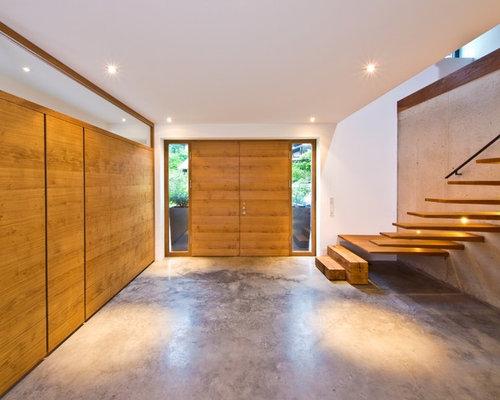 moderner eingang mit doppelt r hauseingang eingangsbereich gestalten houzz. Black Bedroom Furniture Sets. Home Design Ideas