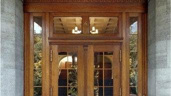 Hauseingang Holztür